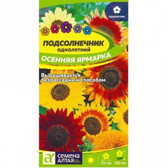 Подсолнечник Осенняя Ярмарка, смесь окрасок изображение 6